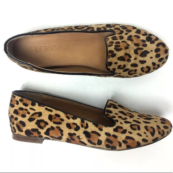 da1ba40599d J. Crew Factory Shoes - J CREW factory Cora loafer flat leopard calf hair